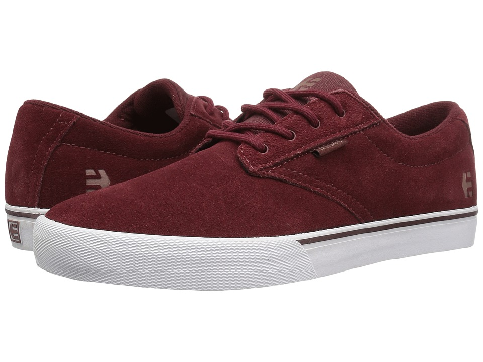 etnies - Jameson Vulc (Burgundy/Tan/White) Men's Skate Shoes
