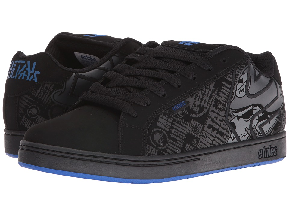 etnies - Fader x Metal Mulisha (Black/Dark Grey/Royal) Men's Skate Shoes