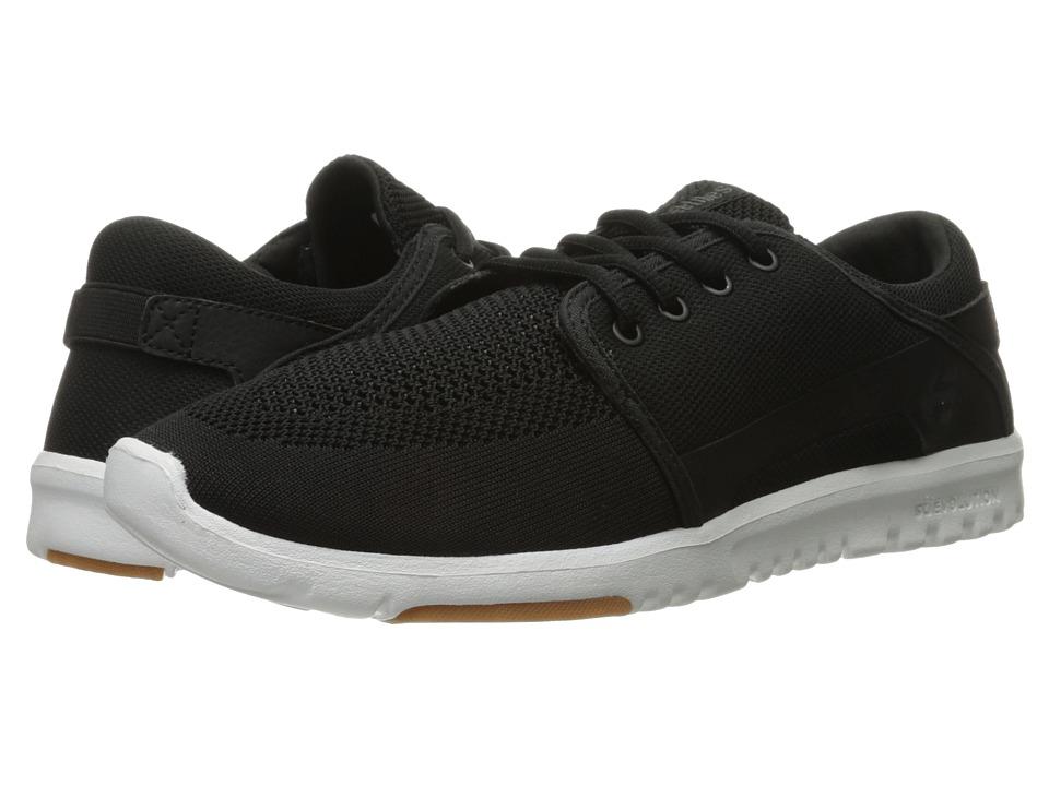 etnies - Scout YB (Black/White/Gum) Men's Skate Shoes