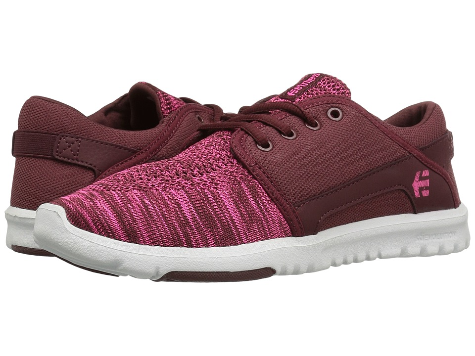 etnies - Scout YB (Burgundy) Women's Skate Shoes