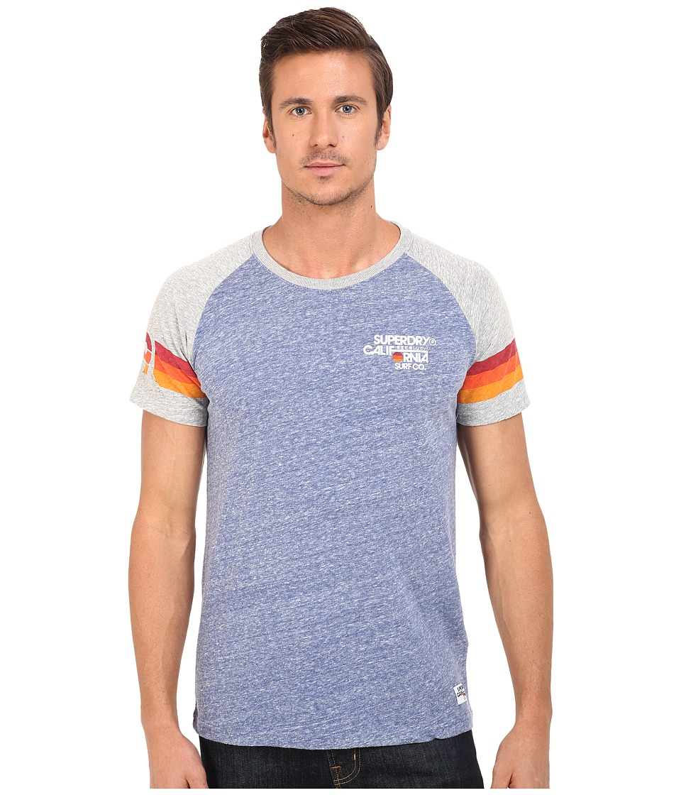 Superdry - Sun Surf Venice Short Sleeve Tee (Ensign Blue Heather) Men's T Shirt
