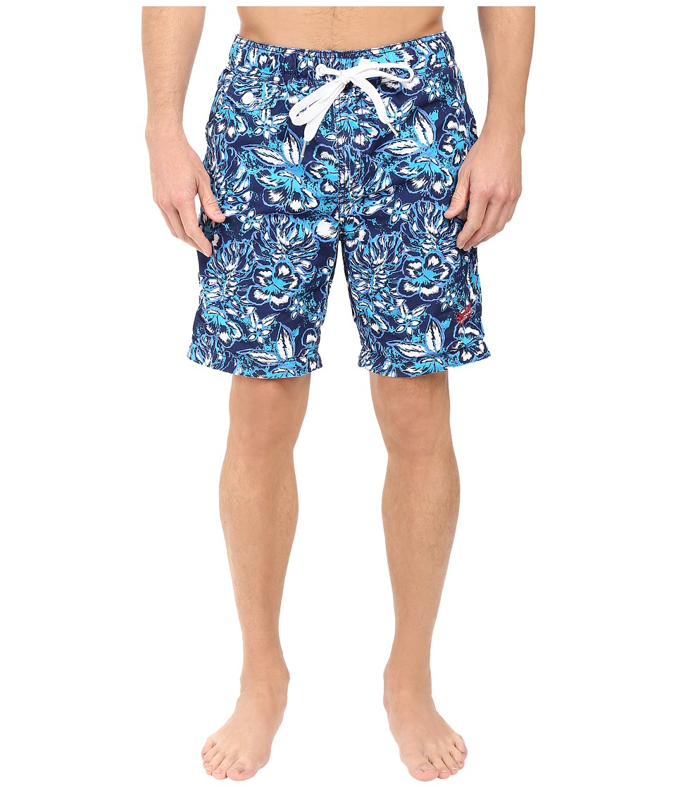 Superdry - Honolulu Swim Shorts (Scatter Hibiscus Navy) Men's Swimwear