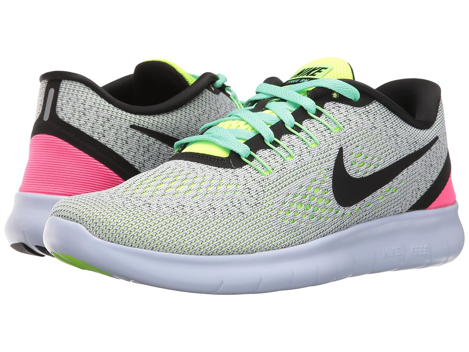 Nike - Free RN (White/Volt/Pink Blast) Women's Running Shoes