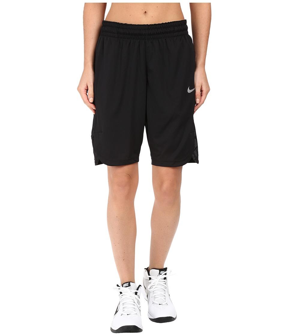 Nike Elite Basketball Short (Black/Black/Wolf Grey/Matte Silver) Women