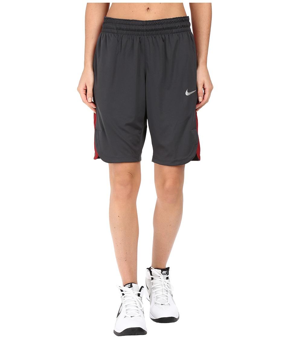 Nike Elite Basketball Short (Anthracite/Turf Orange/Matte Silver) Women