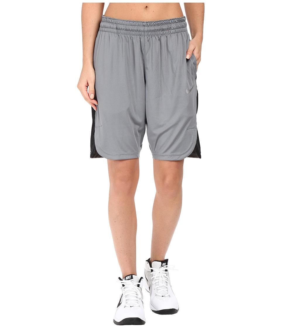 Nike - Elite Basketball Short (Cool Grey/Black/Matte Silver) Women's Shorts