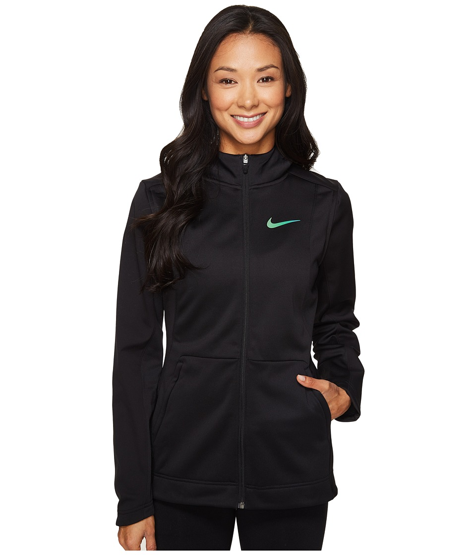 Nike - Therma Hyper Elite Hoodie (Black/Black/Iridescent) Women's Sweatshirt