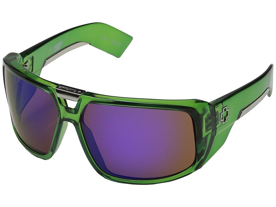 Spy Optic - Touring (Trans Green/Happy Bronze/Purple Spectra) Sport Sunglasses