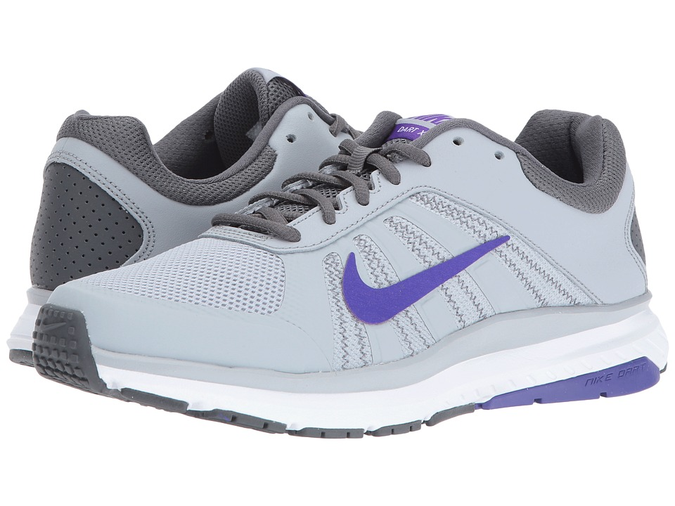 Nike - Dart 12 (Wolf Grey/Dark Grey/Fierce Purple) Women's Running Shoes