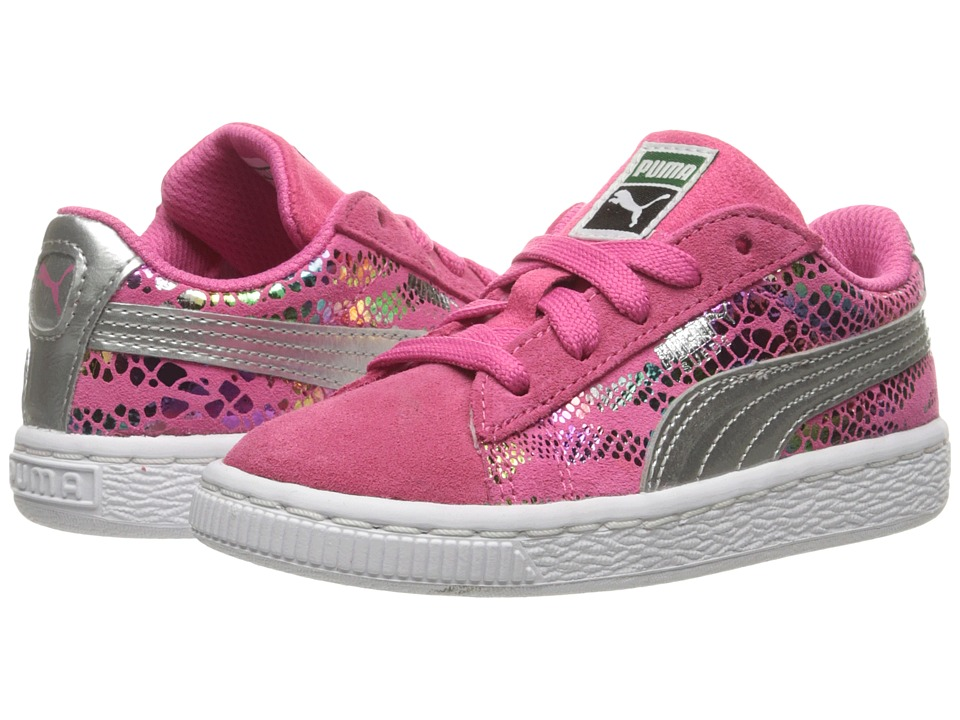 Puma Kids - Suede Sportlux (Toddler) (Fandango Pink/Puma Silver) Girls Shoes