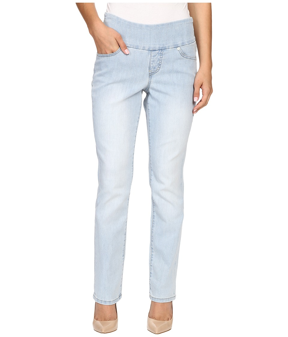 Jag Jeans Petite - Petite Peri Pull-On Straight Jeans in Comfort Denim (Light Indigo) Women's Jeans