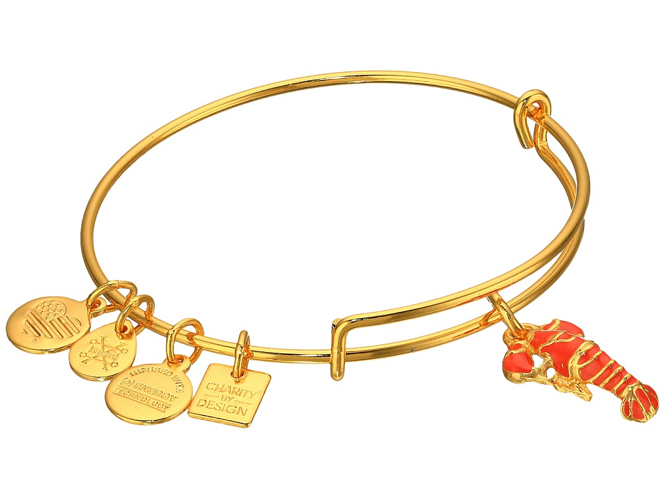 Alex and Ani - Charity By Design Lobster Bangle (Yellow Gold) Bracelet