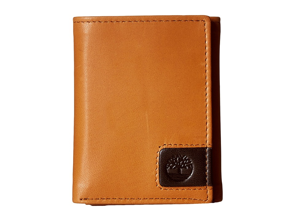 Timberland - Cloudy Leather Tab Trifold Wallet (Tan) Wallet Handbags