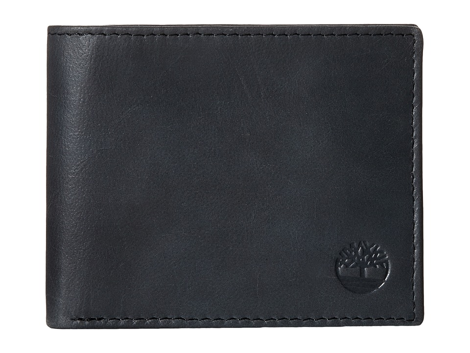 Timberland - Cloudy Contrast Leather Passcase Wallet (Black) Wallet Handbags
