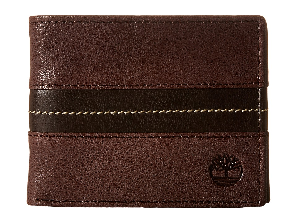 Timberland - Tip Point Leather Passcase Wallet (Brown) Wallet Handbags