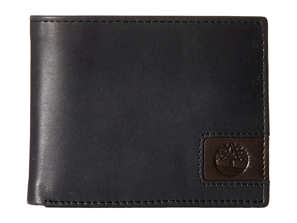 Timberland - Cloudy Leather Tab Passcase Wallet (Black) Wallet Handbags