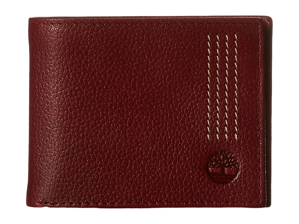 Timberland - Sportz Leather Quad Stitch Passcase Wallet (Port) Wallet Handbags