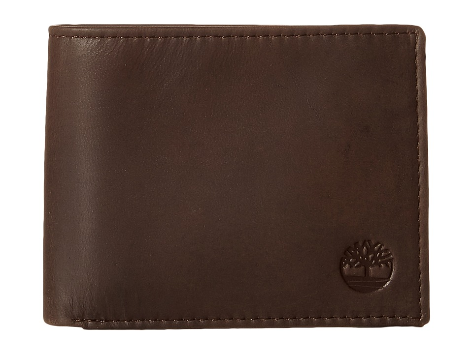 Timberland - Cloudy Contrast Leather Passcase Wallet (Brown) Wallet Handbags