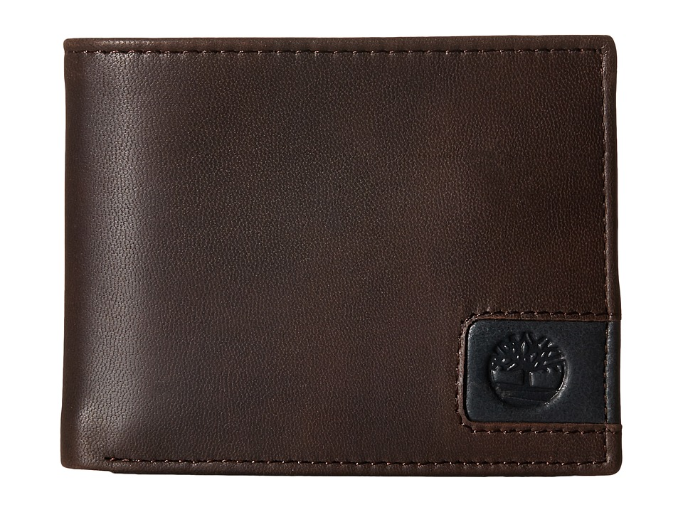 Timberland - Cloudy Leather Tab Passcase Wallet (Brown) Wallet Handbags