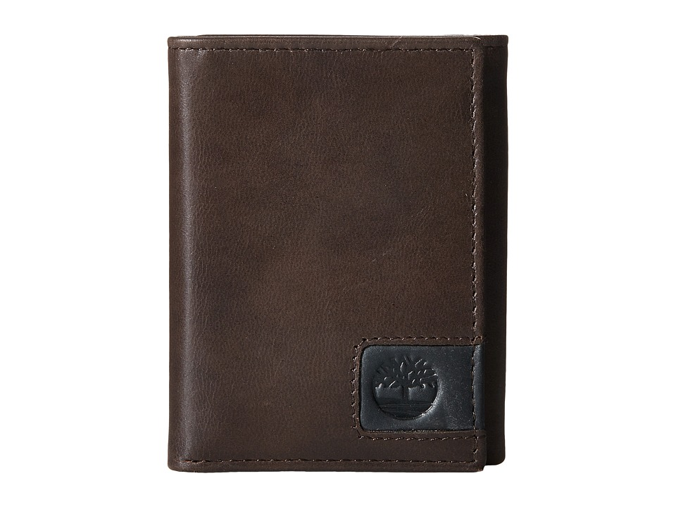 Timberland - Cloudy Leather Tab Trifold Wallet (Brown) Wallet Handbags