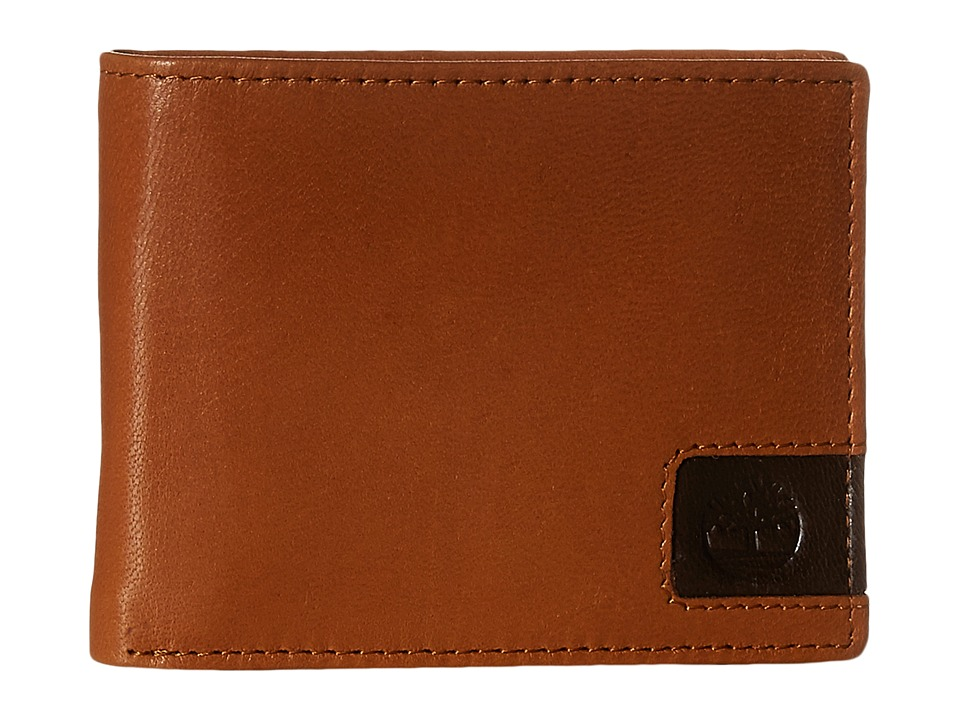 Timberland - Cloudy Leather Tab Passcase Wallet (Tan) Wallet Handbags