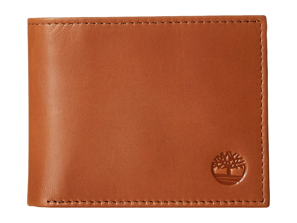 Timberland - Cloudy Contrast Leather Passcase Wallet (Tan) Wallet Handbags