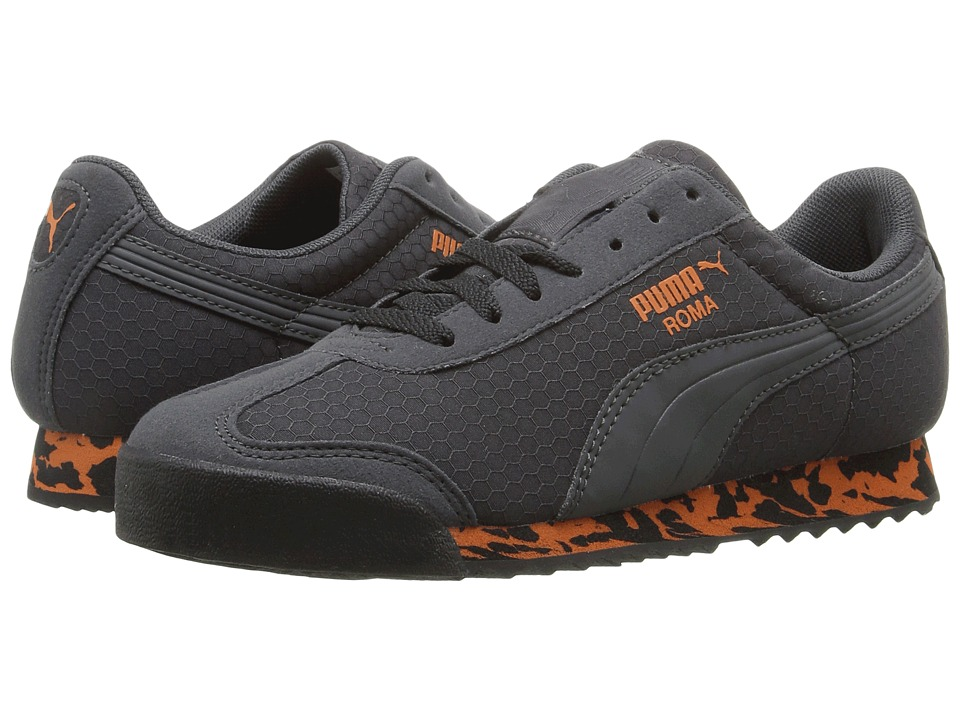 Puma Kids - Roma MS Print (Big Kid) (Dark Shadow/Puma Black) Boys Shoes