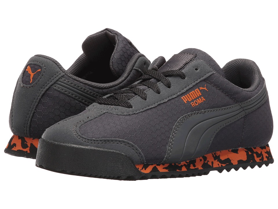 Puma Kids Roma MS Print (Little Kid/Big Kid) (Dark Shadow/Puma Black/Burnt Orange) Boys Shoes