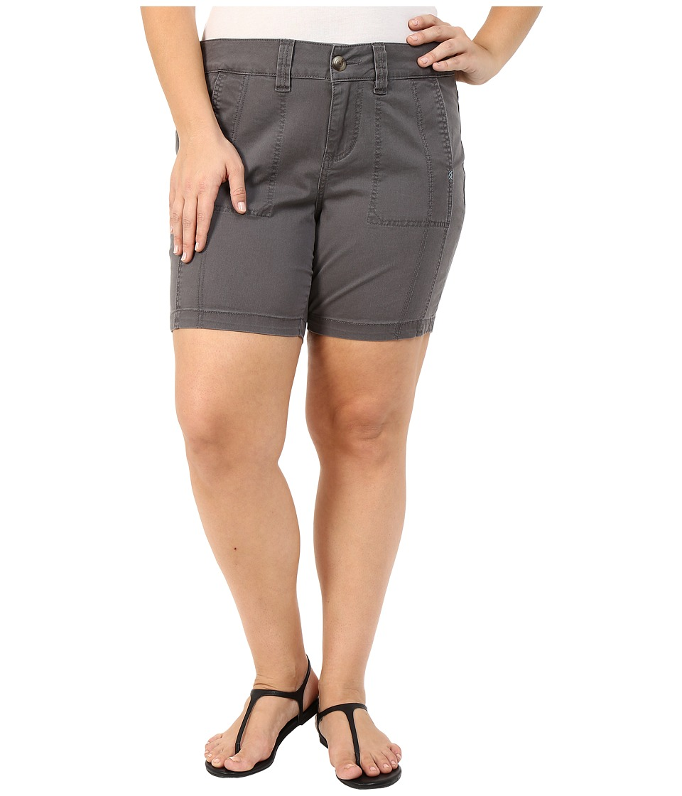 Jag Jeans Plus Size - Plus Size Somerset Relaxed Fit Shorts in Bay Twill (Flint) Women's Shorts