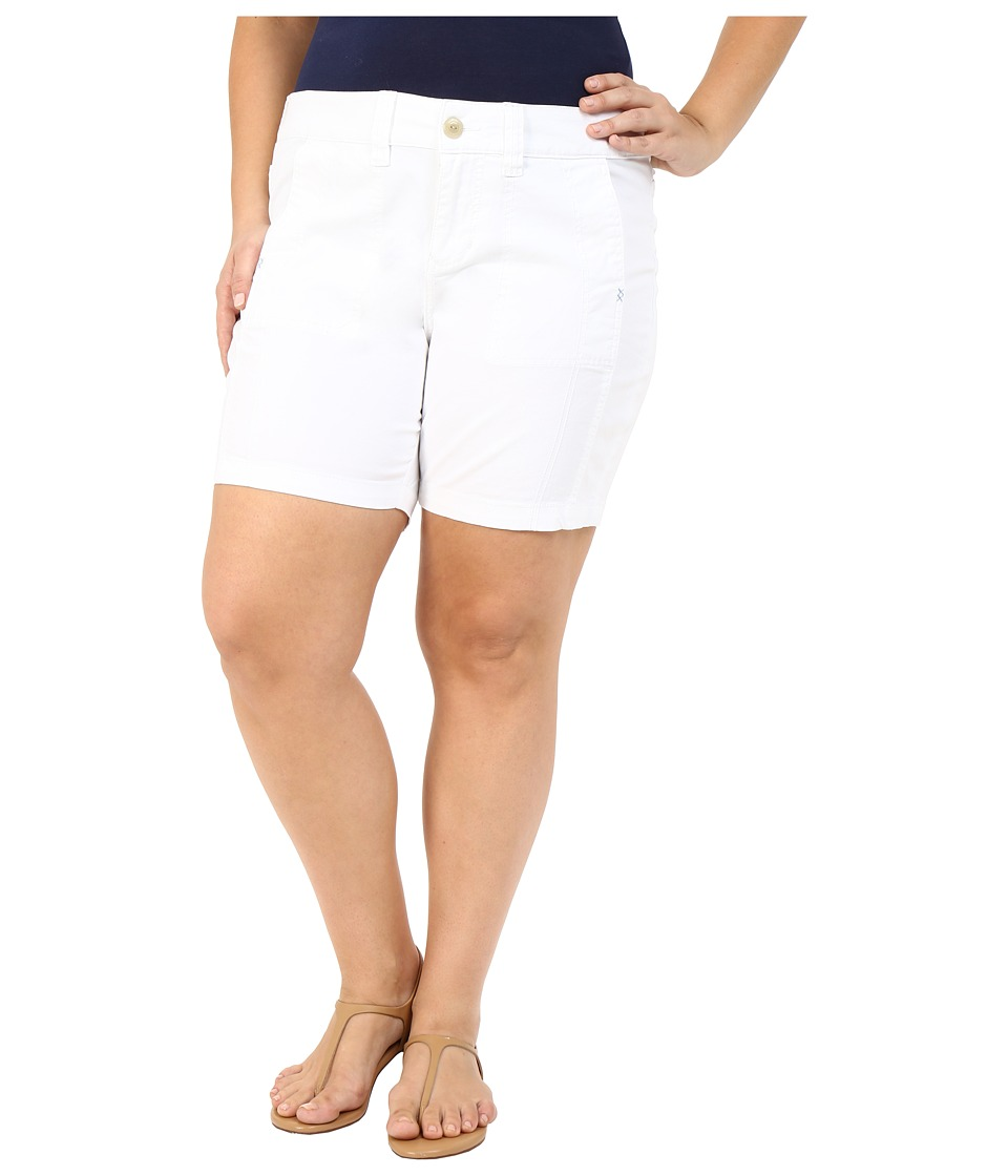 Jag Jeans Plus Size - Plus Size Somerset Relaxed Fit Shorts in Bay Twill (White) Women's Shorts