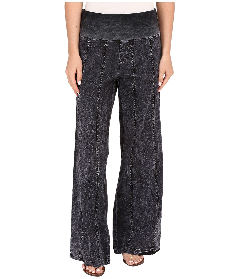 XCVI - Sarani Pants (Heavy Distress Wash Black) Women's Casual Pants
