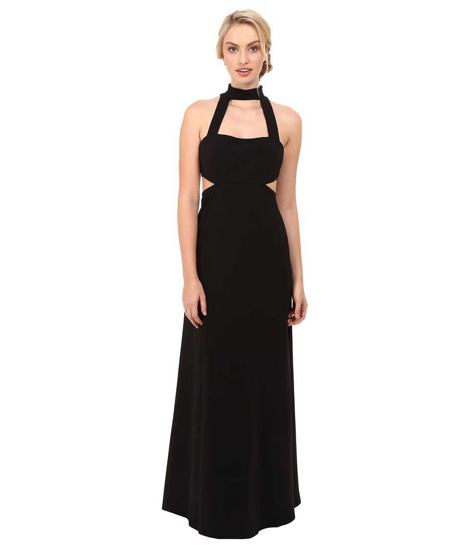 JILL JILL STUART - Sleeveless Collar Neck Side Cut Out Gown (Black) Women's Dress
