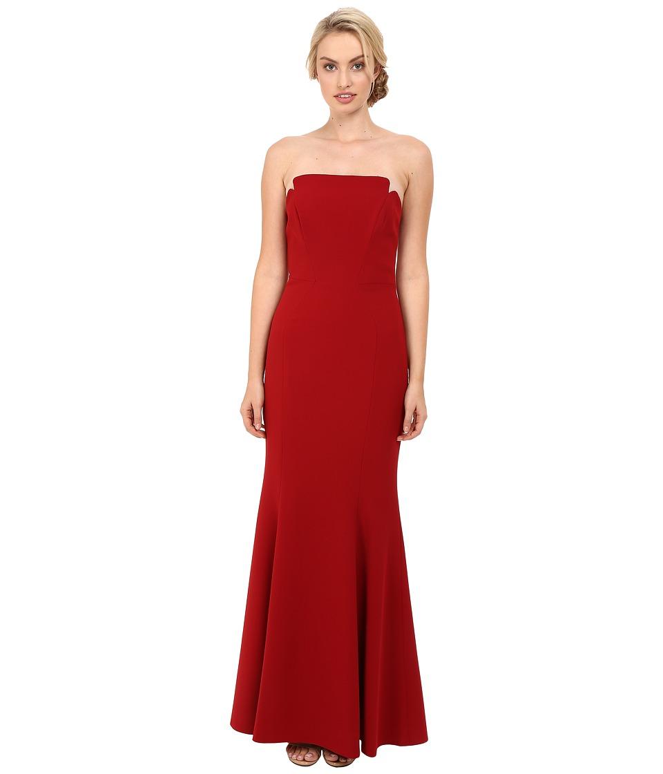 JILL JILL STUART - Harlow Strapless Hourglass Gown (Redwood) Women's Dress
