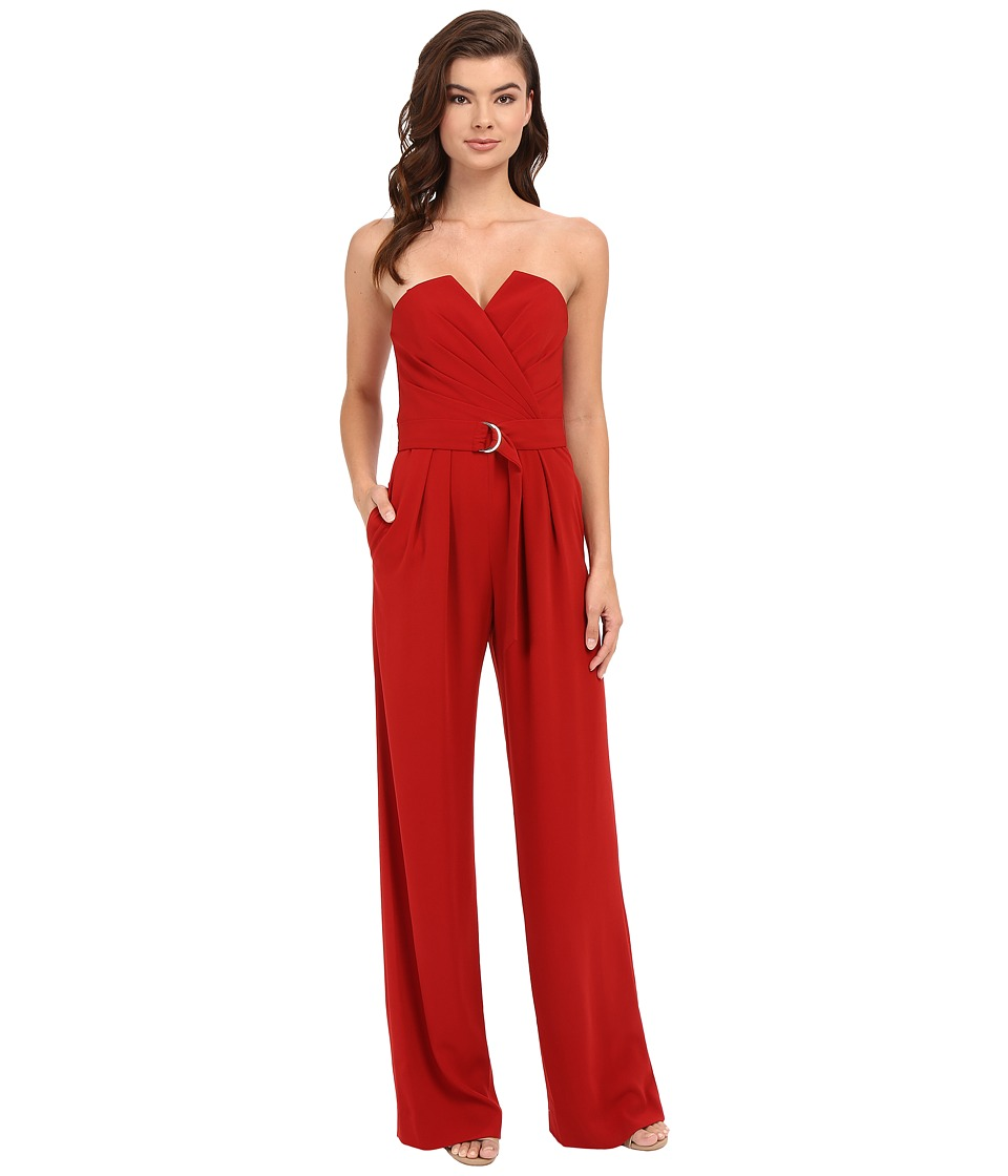 JILL JILL STUART - Belted Sweetheart Neck Jumpsuit (Redwood) Women's Jumpsuit & Rompers One Piece