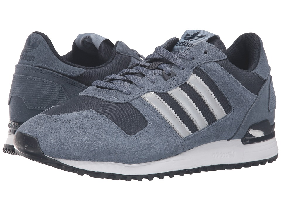 adidas Originals - ZX 700 - Mesh (Tech Ink/Silver Metallic/Night Navy) Men's Running Shoes