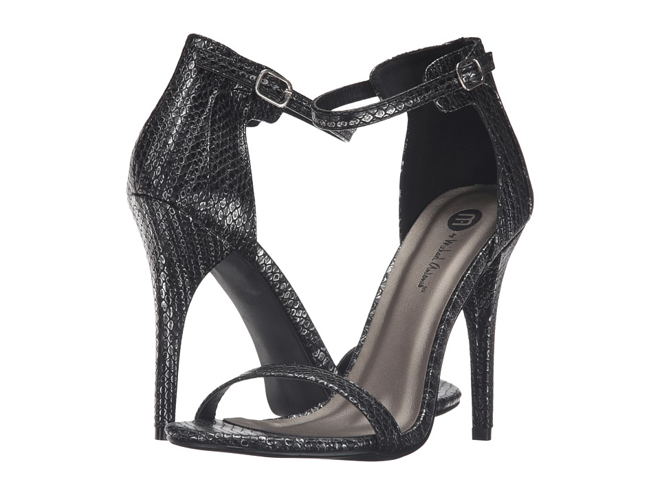 Michael Antonio - Rumor Reptile (Black Reptile) Women's Dress Sandals