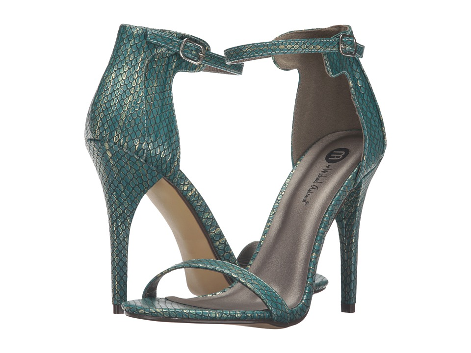 Michael Antonio - Rumor Reptile (Teal Reptile) Women's Dress Sandals