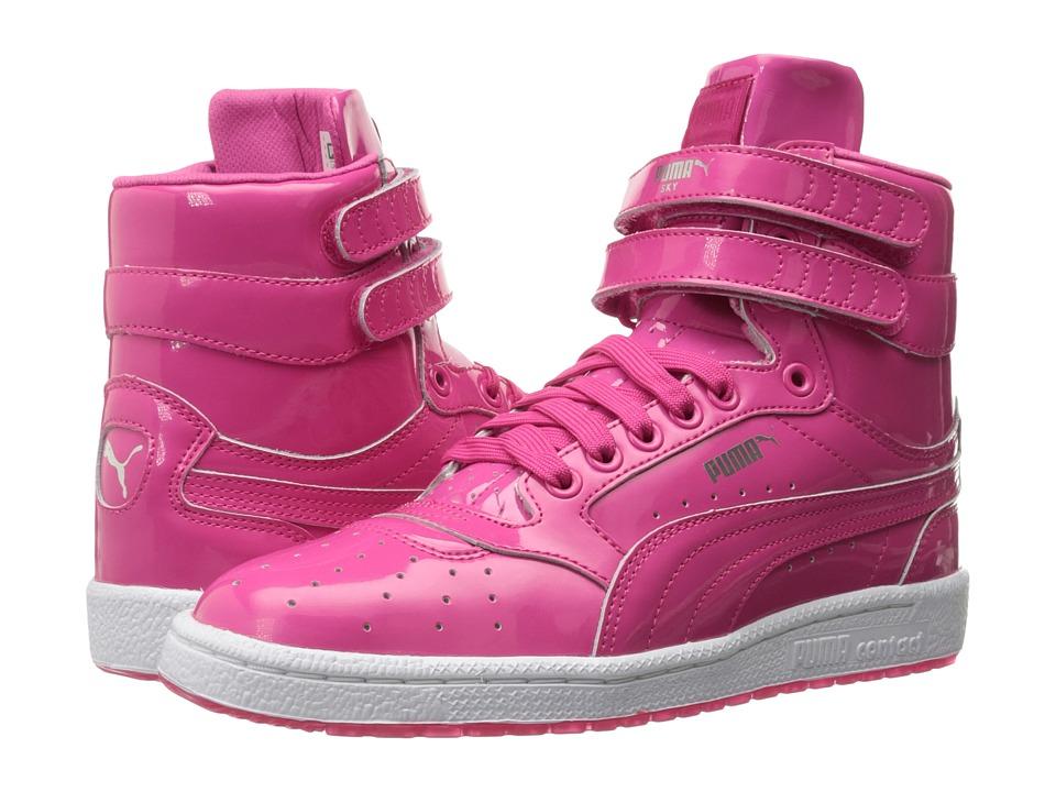 Puma Kids Sky II Hi Patent (Big Kid) (Fuchsia Purple/Puma Silver) Girls Shoes