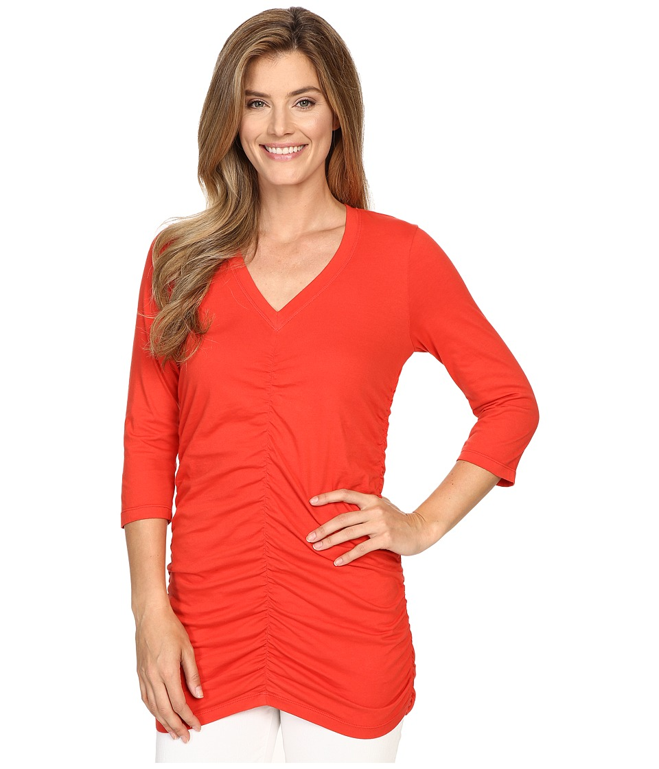 XCVI - Mission V-Neck (Spicy Mango) Women's Clothing