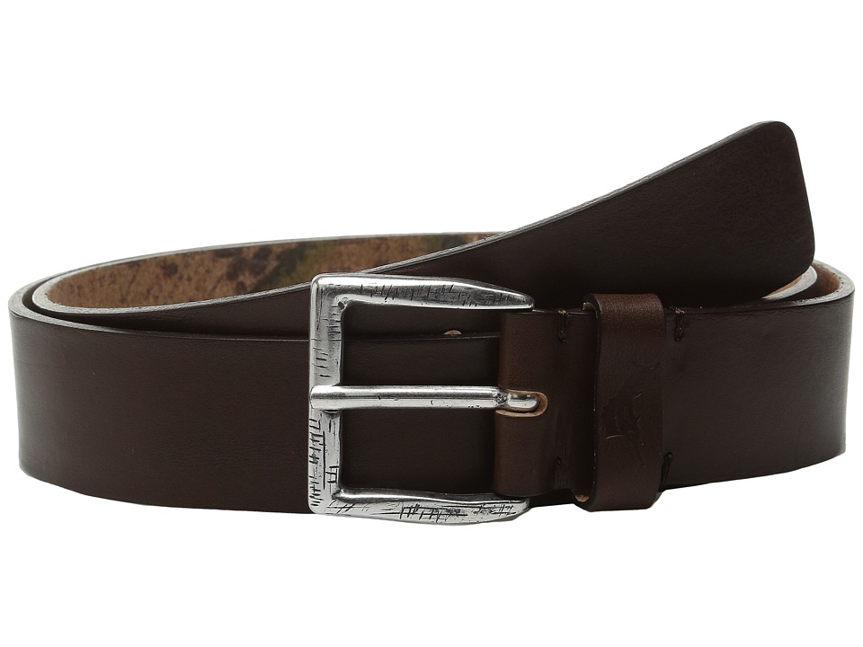 Tommy Bahama - Bridle Cut Belt with Map Print Lining (Brown) Men's Belts
