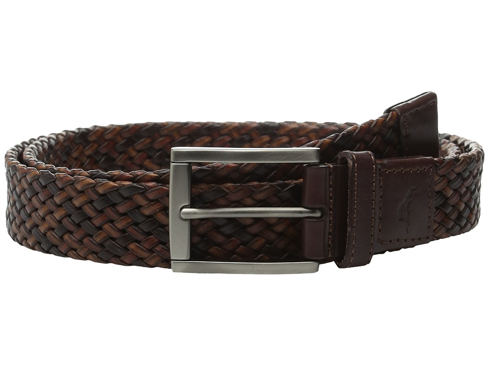 Tommy Bahama - Tricolor Braided Belt (Tan) Men's Belts