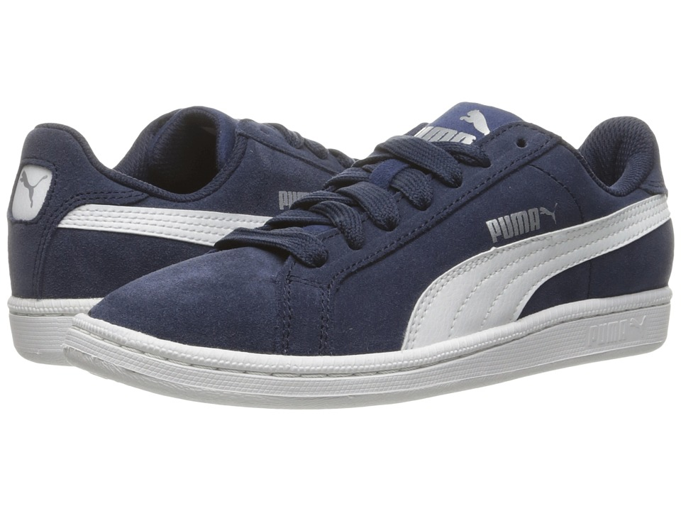 Puma Kids Smash Fun Suede (Big Kid) (Peacoat/Puma White) Boys Shoes