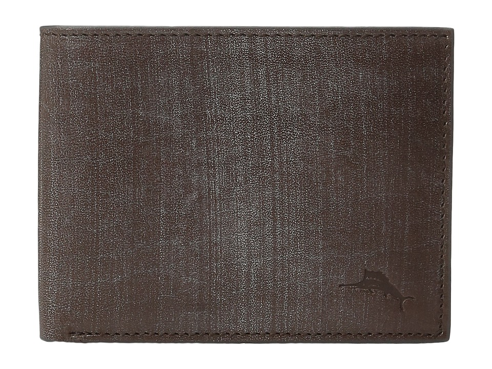 Tommy Bahama - Leather Slimfold Wallet (Brown) Wallet Handbags