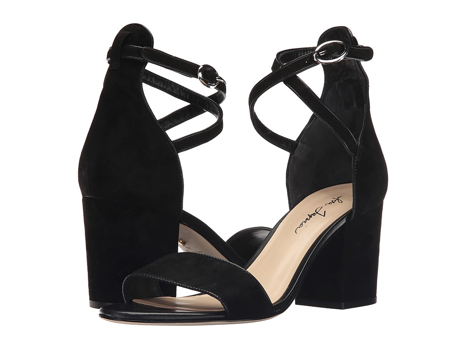 Isa Tapia - Fay (Black Suede) Women's Dress Sandals