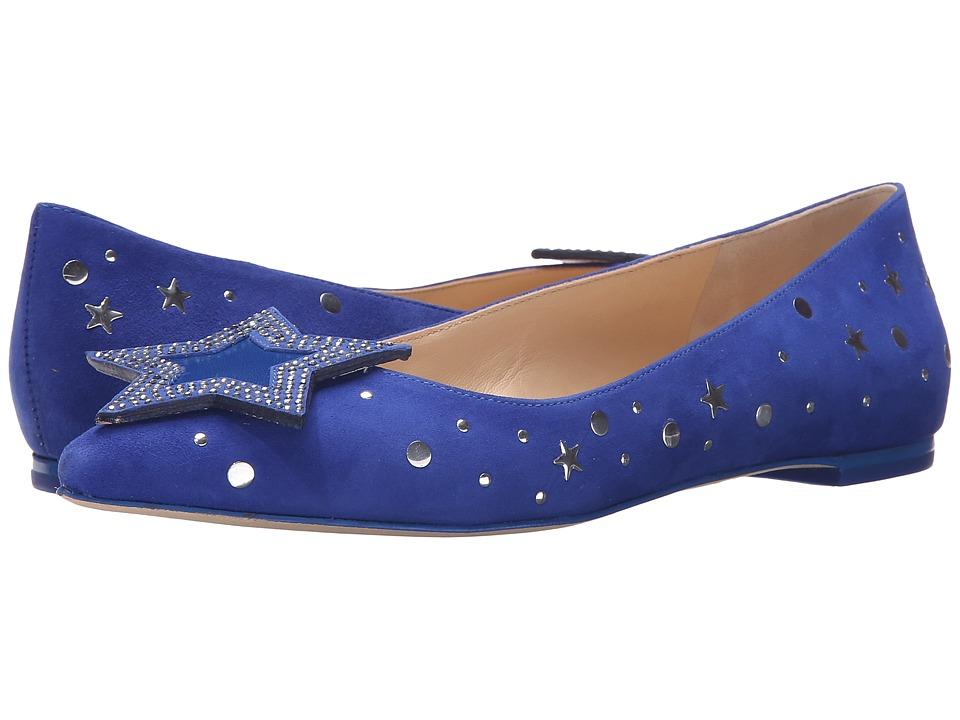 Isa Tapia - Ganna (Deep Sea Kid Suede) Women's Dress Flat Shoes