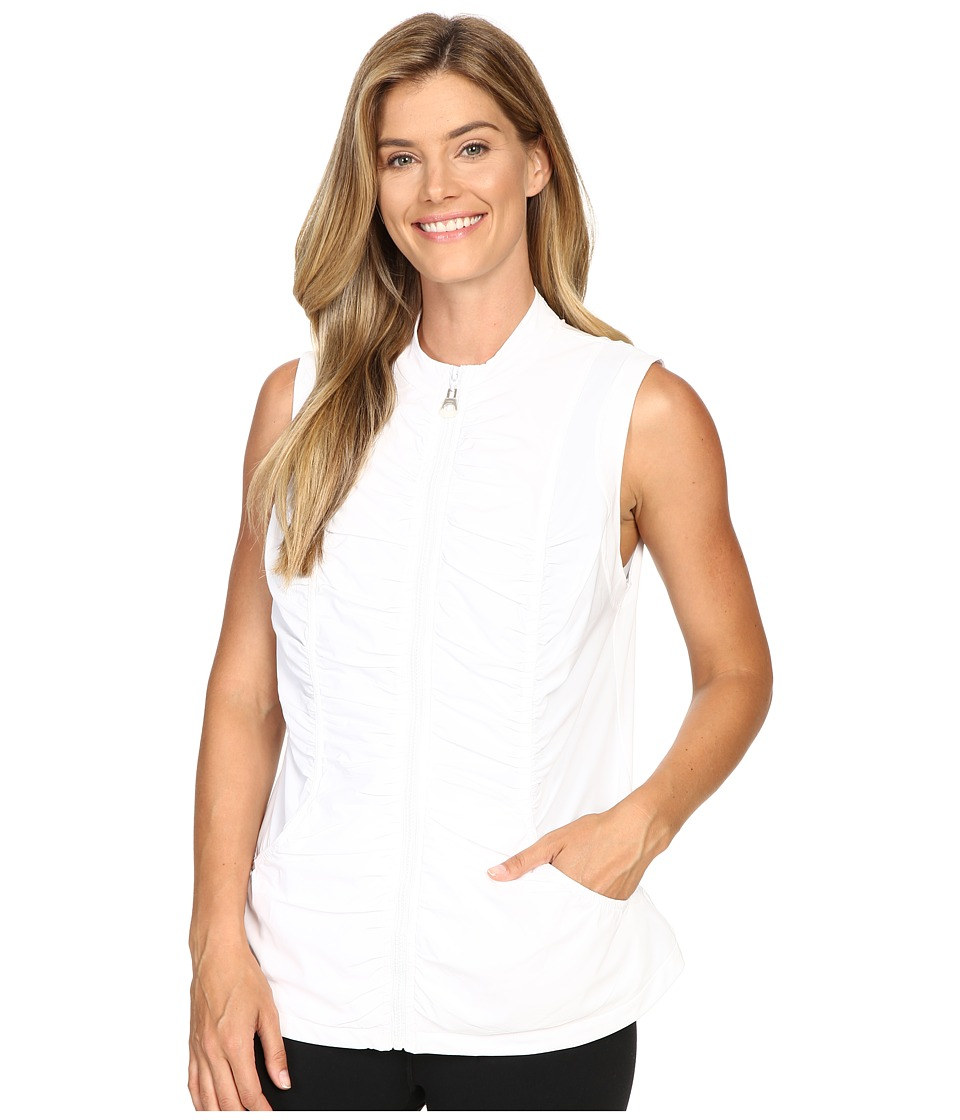XCVI - Movement by XCVI Whisper 4-Way Stretch Vest (White) Women's Vest