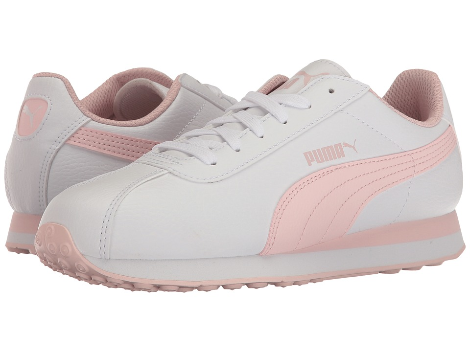 Puma Kids - Turin (Big Kid) (White/Pink Dogwood) Girls Shoes