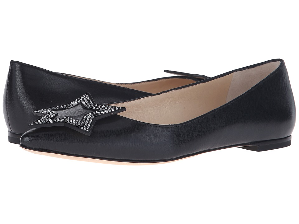 Isa Tapia - Hannah (Black Kid) Women's Dress Flat Shoes