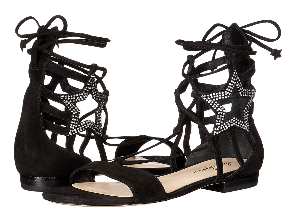 Isa Tapia - Theos C (Black Kid Suede/Crystals) Women's Dress Sandals