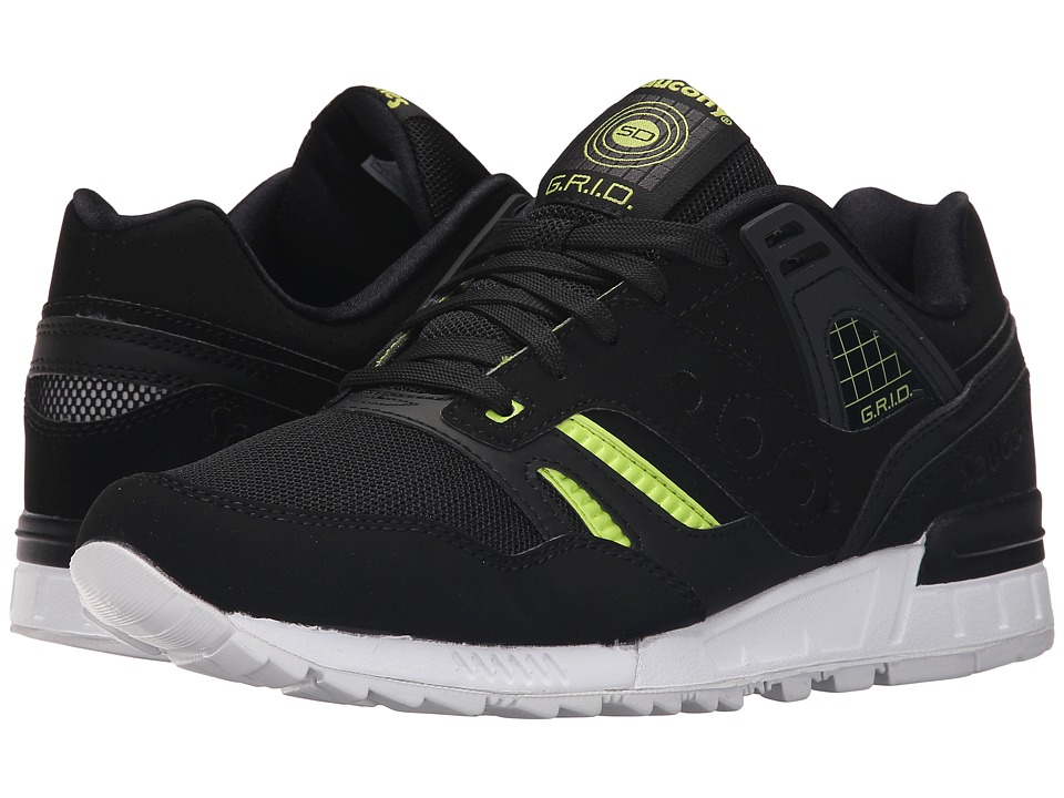 Saucony Originals - Grid SD Jazz Original (Black/White/Volt) Men's Classic Shoes
